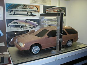Ford Taurus (first generation) - 1983 Taurus wagon clay model along with many of the original design sketches.