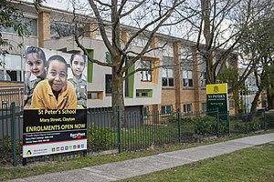Clayton, Victoria - Image: Teesnow st peter's primary school