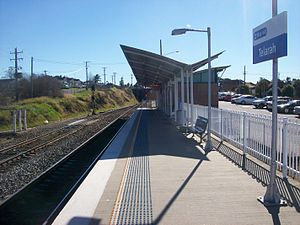 Telarah railway station - Northbound view