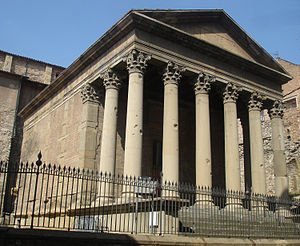 Roman temple of Vic - View of the Roman temple of Vic.