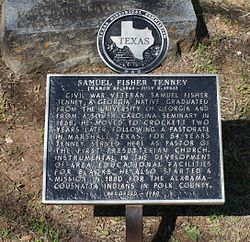 Photo of Samuel Fisher Tenney black plaque