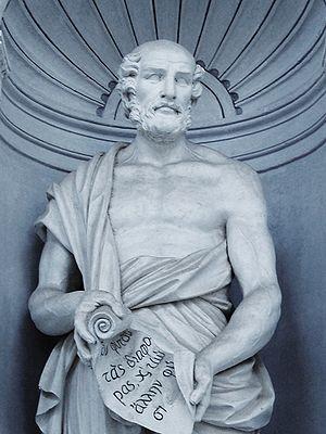 "History of botany - Statue of Theophrastus 371–287 BC  ""Father of Botany""   Palermo Botanic Gardens"