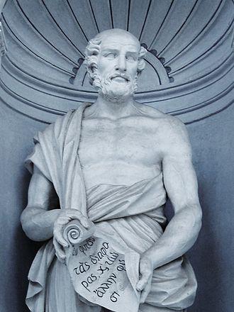 Theophrastus - Statue of Theophrastus, Palermo Botanical Garden