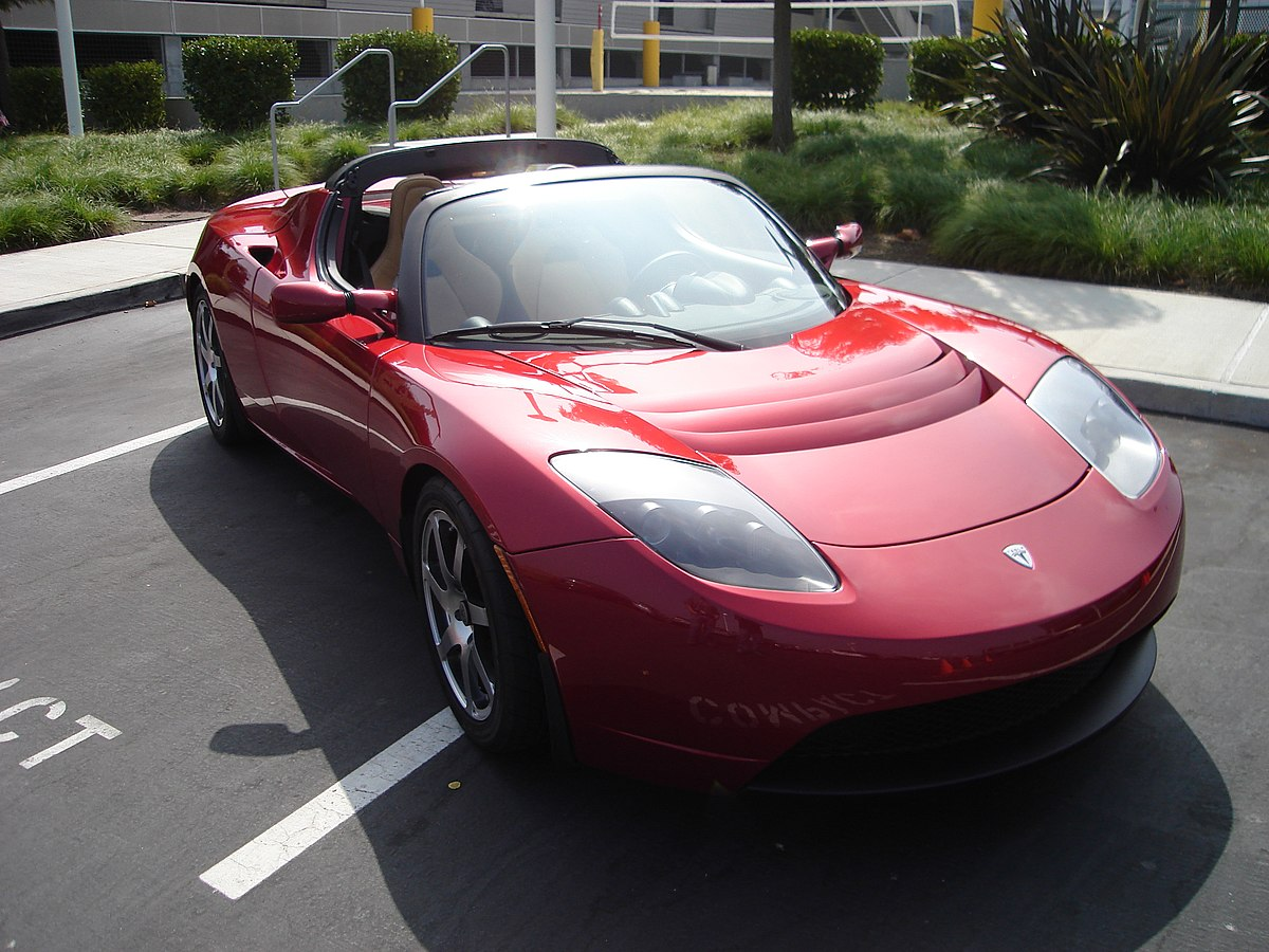 Tesla roadster wikipedia for A m motors