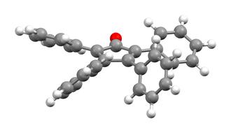 Tetraphenylcyclopentadienone - Image: Tetraphenylcyclopent adienone xtal 2