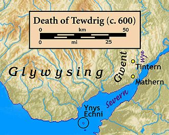 Tewdrig - Places related to Tewdrig mentioned in the Book of Llandaff.