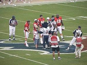 2006 Houston Texans season - Image: Texans Chiefs coin toss Aug 2006