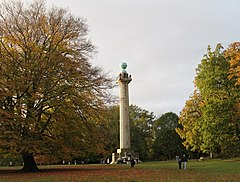 The Bridgewater Monument surrounded by autumnal trees
