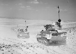 British Light Tanks MK VIB of the 7th Armoured Division on patrol in the desert, 2 August 1940. The British Army in North Africa 1940 E443.2.jpg
