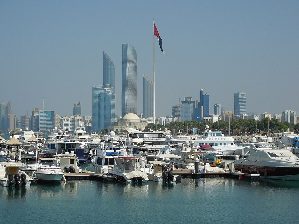 The Corniche as seen from the Marina Mall, Abu Dhabi, UAE