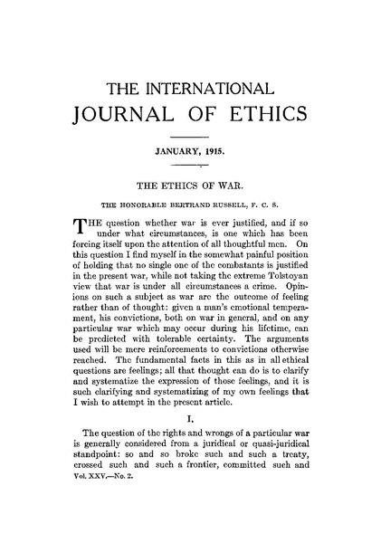 is war ethical Isr med assoc j 2010 mar12(3):133-5 ethical dilemmas for physicians in time of  war rosner f(1) author information: (1)elmhurst hospital center, elmhurst,.