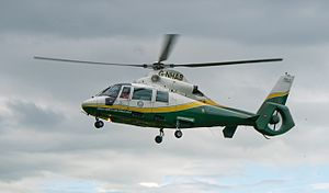 Great North Air Ambulance Service - Great North Air Ambulance Service (GNAAS) Pride of Cumbria aircraft (G-NHAB) based in Langwathby, near Penrith, Cumbria.