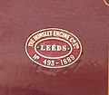 The Hunslet Engine Co. Ltd., Leeds. No 493 of 1889 works plate.jpg