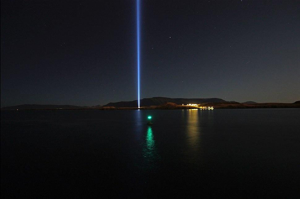 The Imagine Peace Tower on Viðey Iceland near Reykjavik (4067485347)