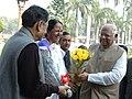 The Lok Sabha Speaker, Shri Somnath Chatterjee arrives at Parliament House to attend the 6th session of 14th Lok Sabha, in New Delhi on 23, November 2005.jpg