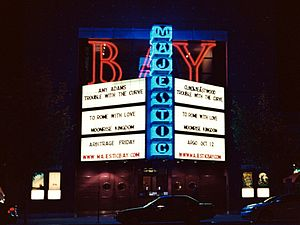 The Majestic Bay - Image: The Majestic Bay theater neon at night