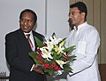 The Minister of Foreign Affairs, Trade & Immigration, Papua New Guinea, Mr. Samuel T. Abal meeting the Minister of State of Petroleum and Natural Gas, Shri Jitin Prasad, in New Delhi on July 24, 2009.jpg