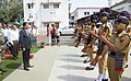 The Minister of State for Defence, Dr. Subhash Ramrao Bhamre inspecting the Guard of Honour by the security squad, during his visit to Ordnance Factory Khamaria, in Madhya Pradesh on October 14, 2017.jpg