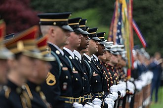3rd U.S. Infantry Regiment (The Old Guard) - Image: The Official State Visit of France (27831282458)