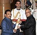 The President, Shri Pranab Mukherjee presenting the Padma Shri Award to Prof. (Dr.) K.P. Haridas, at a Civil Investiture Ceremony, at Rashtrapati Bhavan, in New Delhi on April 08, 2015.jpg