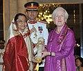 The President, Smt. Pratibha Devisingh Patil presenting the Padma Shri Award to Dr. Martha Alter Chen, at an Investiture Ceremony II, at Rashtrapati Bhavan, in New Delhi on April 01, 2011.jpg