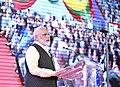 The Prime Minister, Shri Narendra Modi addressing at the Indian Community event, at Yangon, Myanmar on September 06, 2017 (2).jpg