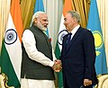 The Prime Minister, Shri Narendra Modi calls on the President of Kazakhstan, Mr. Nursultan Nazarbayev, in Astana, Kazakhstan on June 08, 2017.jpg