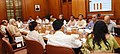 The Prime Minister, Shri Narendra Modi chairing a high level meeting on drought and water scarcity with the Chief Minister of Chhattisgarh, Dr. Raman Singh, in New Delhi on May 17, 2016 (2).jpg