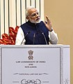 The Prime Minister, Shri Narendra Modi delivering his speech at the valedictory function of the National Law Day celebrations, in New Delhi on November 26, 2017 (2).jpg