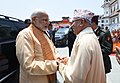 The Prime Minister, Shri Narendra Modi with the Prime Minister of Nepal, Shri K.P. Sharma Oli, at Janaki Mandir, in Janakpur, Nepal on May 11, 2018.JPG