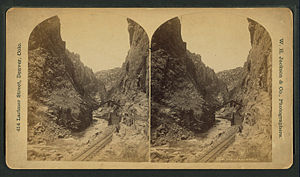 Royal Gorge Route Railroad - The Royal Gorge, from Robert N. Dennis collection of stereoscopic views 2