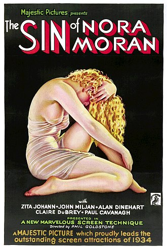 The Sin of Nora Moran - Theatrical release poster Artwork by Alberto Vargas
