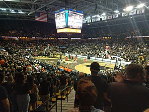 CFE Arena - The interior of the CFE Arena, UCF's multi-purpose indoor sports arena.