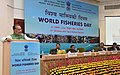 The Union Minister for Agriculture and Farmers Welfare, Shri Radha Mohan Singh addressing the gathering, on the occasion of the World Fisheries Day 2016, in New Delhi.jpg