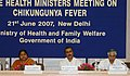 The Union Minister for Health and Family Welfare, Dr. Anbumani Ramadoss at the State Health Ministers Meeting on Chikunguniya fever, in New Delhi on June 21, 2007.jpg