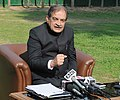 The Union Minister for Rural Development, Panchayati Raj, Drinking Water and Sanitation, Shri Chaudhary Birender Singh addressing a press conference on SACOSAN VI, in New Delhi on January 10, 2016.jpg