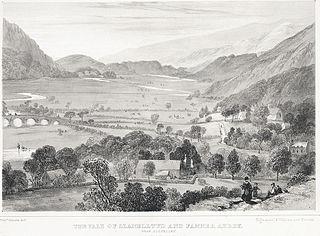 The Vale of Llanelltyd and Fanner i.e. Cymer Abbey near Dolgelley