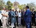 The Vice President, Shri M. Hamid Ansari visiting the Qutub Shahi Tomb Necropolis Complex in Hyderabad to see the ongoing restoration work,.jpg
