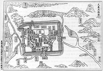 Nanjing - Yuan dynasty map of Nanjing.