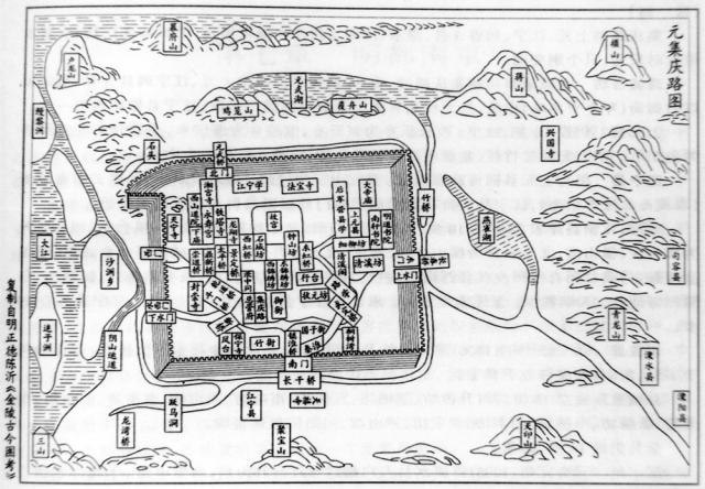 The Yuan Dynasty map of Nanjing,by Chen Yi