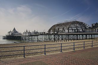 Eastbourne Pier - Eastbourne Pier on 31 July 2014, the day after a fire destroyed a third of it