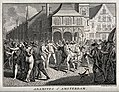The arrest of Adamites in a public square in Amsterdam. Etch Wellcome V0035701.jpg