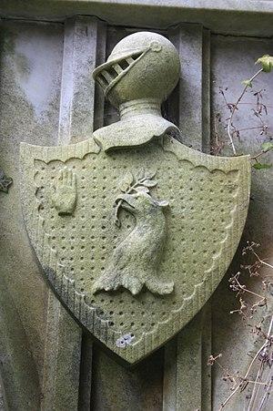 Alexander Monro (tertius) - The coat of arms of Alexander Monro, Dean Cemetery