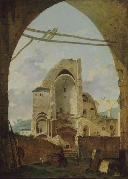 Fichier:The destruction of Montmartre Abbey in 1794.jpg