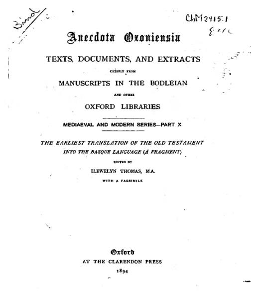 File:The earliest translation of the old testament into the Basque language (1894).djvu