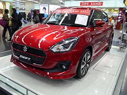 The frontview of Suzuki SWIFT HYBRID RS (DAA-ZC53S).jpg