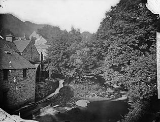 The mill and waterfall, Trefriw