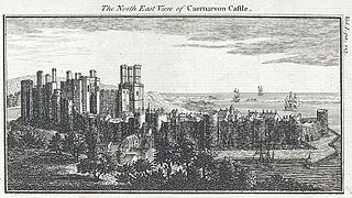 The north east view of Caernarvon Castle