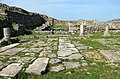 The trade district of the settlement with tabernae and a square paved with stone slabs, Histria, Moesia Inferior, Romania (28636945868).jpg