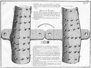 Boot (torture) - Image: Theresiana Beinschrauben